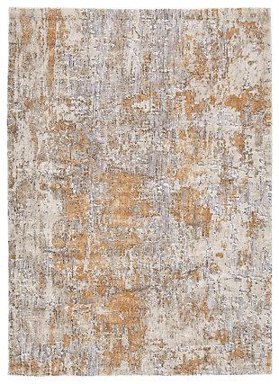 Kamella Medium Rug, Gray/Gold, large