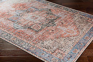 "Distressed Pattern 5'3"" x 7'3"" Area Rug, Multi, rollover"