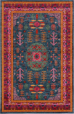 Rectangular 2' x 3' Area Rug, Multi, large