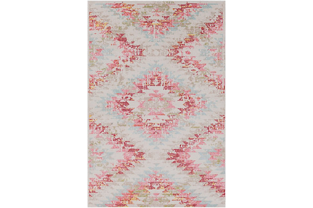 "Home Accents Geometic 5'3"" x 7'3"" Area Rug, Multi, large"