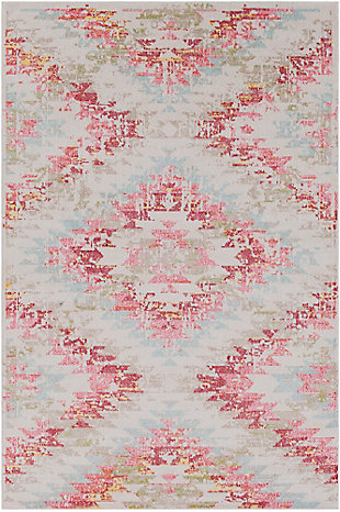 "Home Accents Geometic 7'10"" x 10'3"" Area Rug, Multi, large"