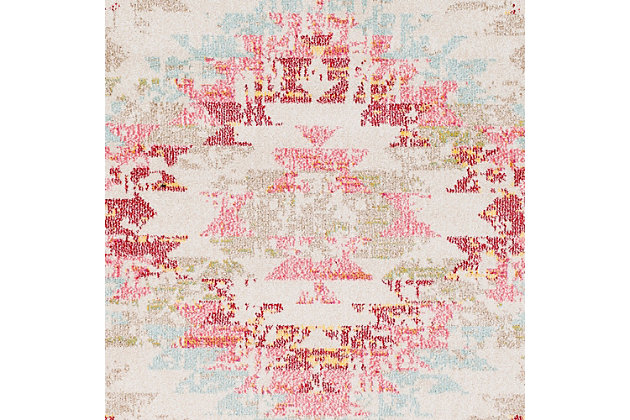 """Home Accents Geometic 7'10"""" x 10'3"""" Area Rug, Multi, large"""