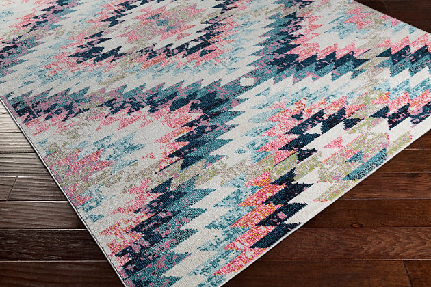 "Home Accents Geometic 5'3"" Area Rug, Multi, large"