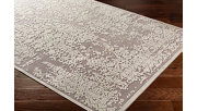 "Distressed Design 5'2"" x 7'3"" Area Rug, Seafoam/Medium Gray, rollover"