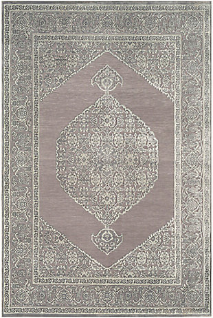 Distressed Design 2' x 3' Area Rug, Seafoam/Medium Gray, large