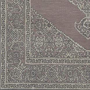 "Distressed Design 6'7"" x 9'6"" Area Rug, Seafoam/Medium Gray, large"
