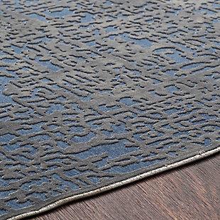 "Rectangular 5'2"" x 7'3"" Area Rug, Dark Blue/Charcoal, large"