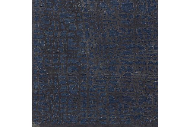 "Rectangular 7'10"" x 10'4""Area Rug, Dark Blue/Charcoal, large"