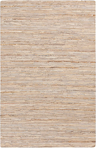 "Leather 3'3"" x 5'3"" Area Rug, Multi, large"