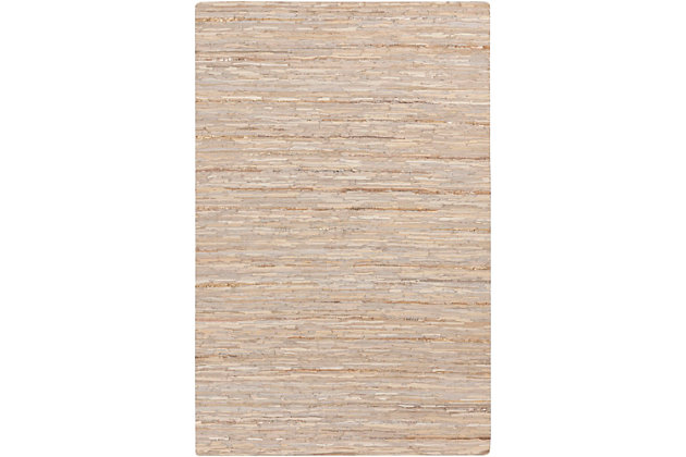 Leather 6' x 9' Area Rug, Multi, large