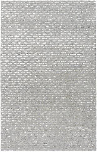Wool 2' x 3' Area Rug, Medium Gray/Taupe, large