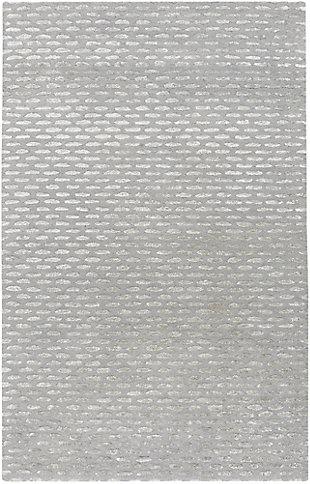 "Wool 3'6"" x 5'6"" Area Rug, Medium Gray/Taupe, large"