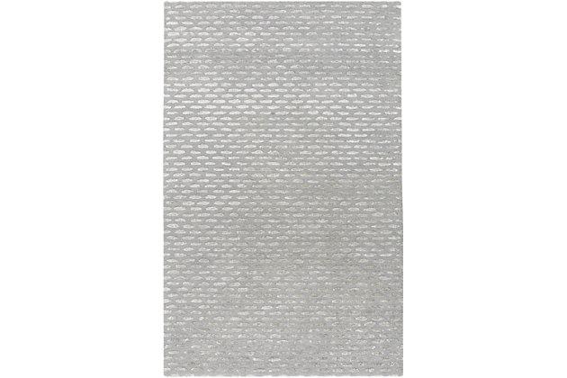Wool 5' x 8' Area Rug, Medium Gray/Taupe, large