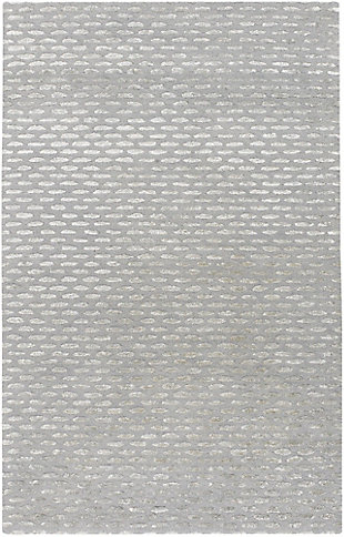 Wool 6' x 9' Area Rug, Medium Gray/Taupe, large