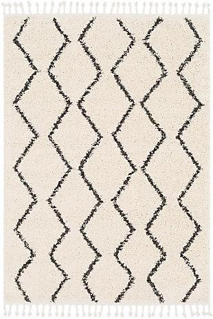 Plush 2' x 3' Area Rug, Charcoal/Beige, large