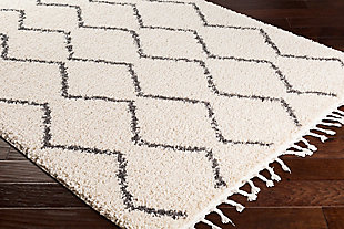 "Plush 7'10"" x 10'3"" Area Rug, Charcoal/Beige, rollover"
