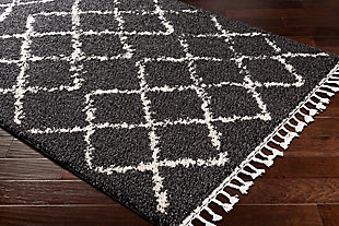 "Plush 5'3"" x 7'3"" Area Rug, Charcoal/Beige, rollover"