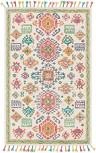 "Hand Hooked 5' x 7'6"" Area Rug, Multi, large"