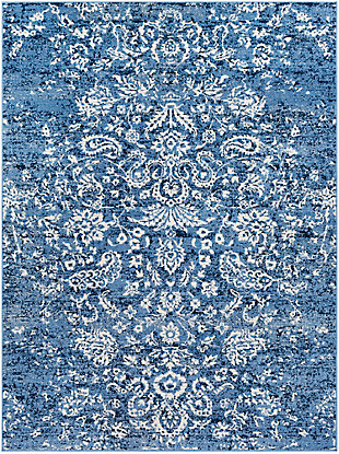 "Raised Pattern 5'3"" x 7'3"" Area Rug, Multi, large"