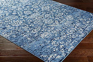 "Raised Pattern 5'3"" x 7'3"" Area Rug, Multi, rollover"