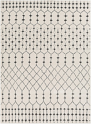 "Modern 7'10"" x 10'3"" Area Rug, Charcoal/Beige/Gray, large"