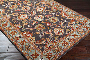 Hand Crafted 5' x 8' Area Rug, Multi, rollover