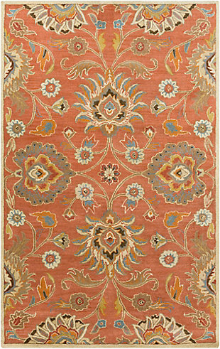 Hand Crafted 6' x 9' Area Rug, Multi, large