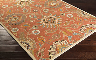 Hand Crafted 6' x 9' Area Rug, Multi, rollover