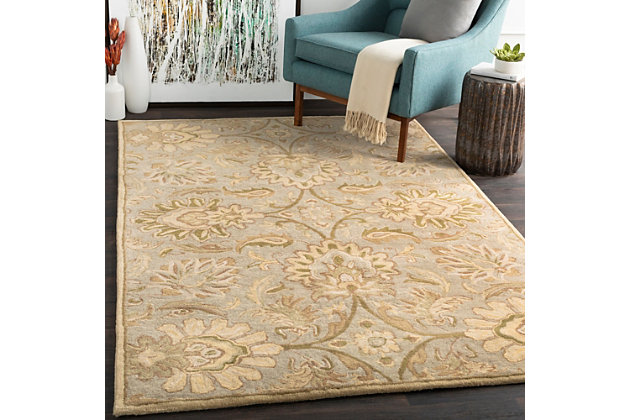 Hand Crafted 5' x 8' Area Rug, Multi, large