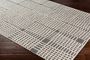 "Modern 7'10"" x 10'3"" Area Rug, Beige/Taupe, rollover"