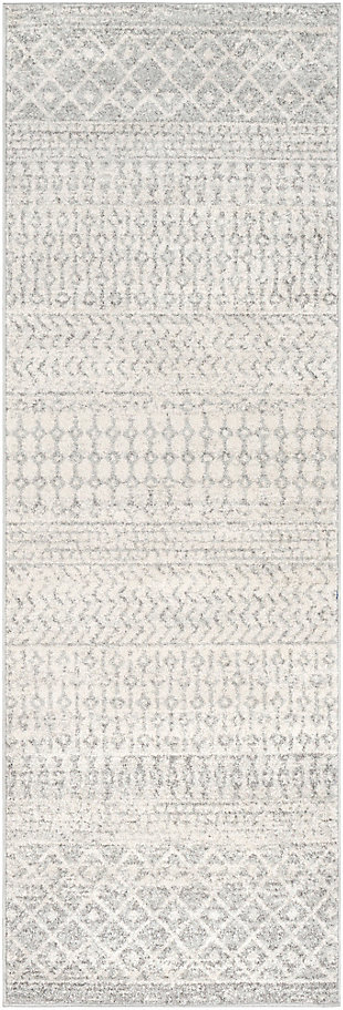 Modern Rug, Two-tone Gray/White, large