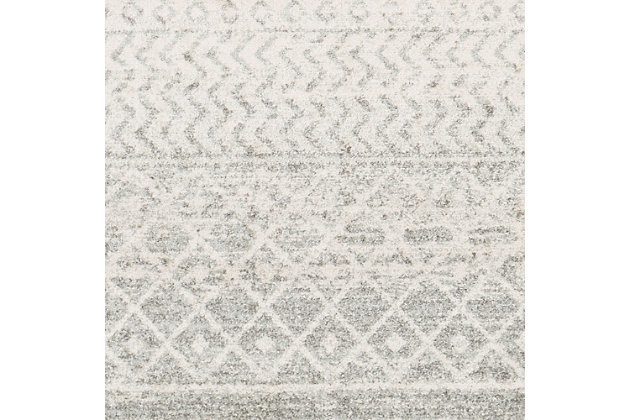 Modern Rug, Two-tone Gray/White, large