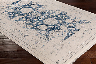 Distressed Pattern Area Rug, Multi, rollover