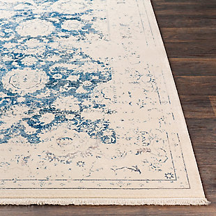Distressed Pattern Area Rug, Multi, large