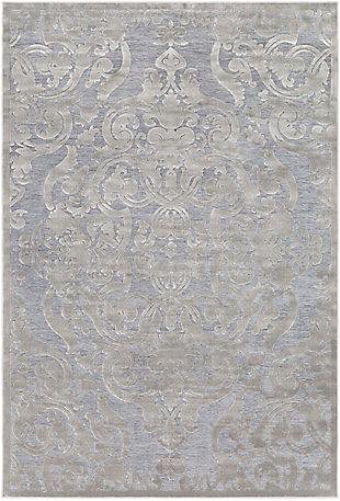 Rectangular Area Rug, Medium Gray/Charcoal, large