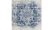 Home Accents Harput Area Rug, Dark Blue/Pale Gray/Beige, large