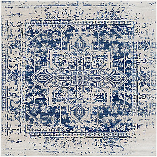 Home Accents Harput Area Rug, Dark Blue/Pale Gray/Beige, rollover