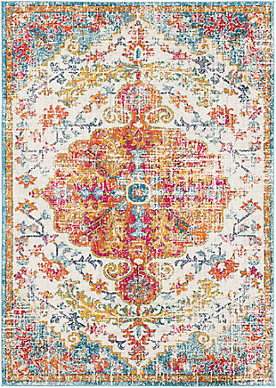 Home Accents Harput Area Rug, Orange, large