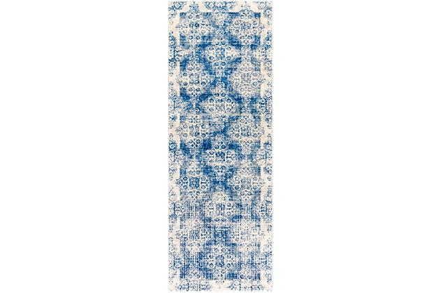 Home Accents Harput Area Rug, Dark Blue/Pale Gray/Beige, large