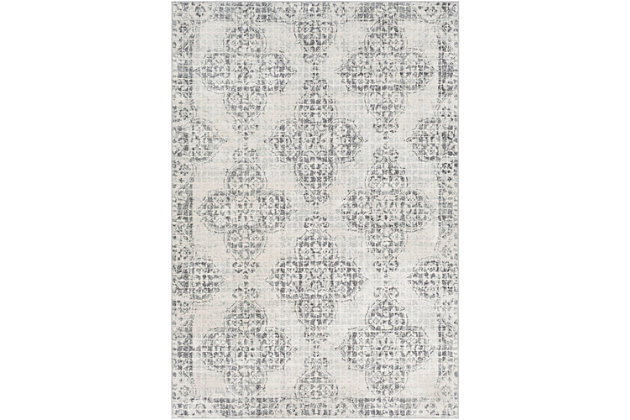 Home Accents Harput Area Rug, Light Gray/Charcoal/Beige, large