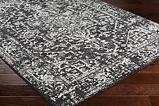 Home Accents Harput Area Rug, Black, rollover