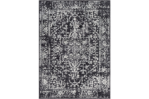 Home Accents Harput Area Rug, Black, large
