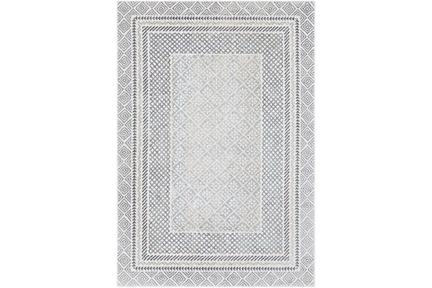 Home Accents Harput Area Rug, Charcoal/Gray/White, large