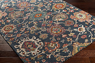 Hand Hooked Area Rug, Multi, rollover
