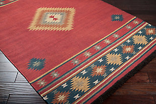 Hand Crafted Tribal Area Rug, Multi, rollover
