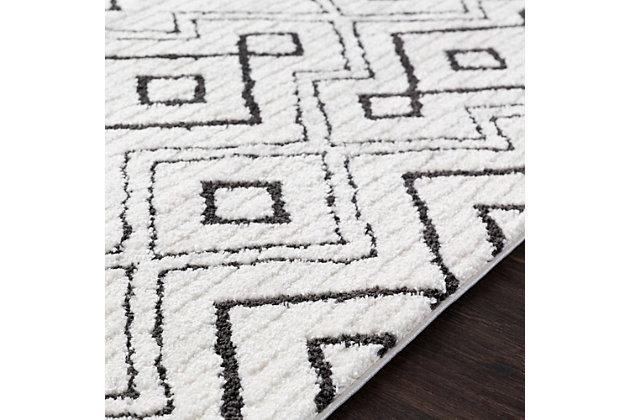 Modern Area Rug, Black/Charcoal/White, large