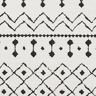 Modern Area Rug, Black/Charcoal/White, large