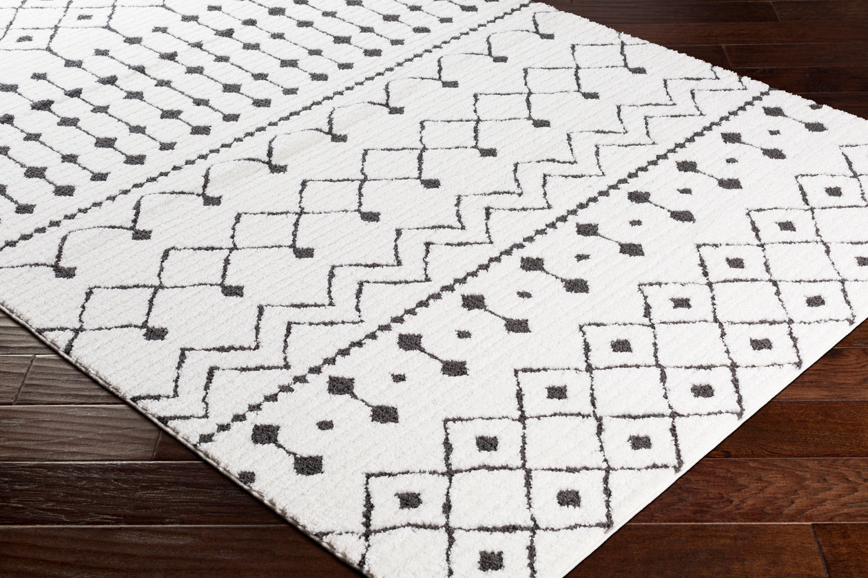 80cm x 150cm Modern Style Rug CUBIC Design Black Grey Charcoal Rugs Living Room Extra Large Size Soft Touch Short Pile Carpet Area Rugs Non Shedding 3ft x 5ft