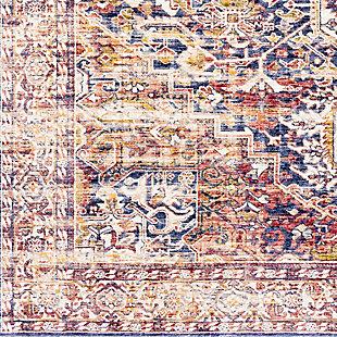 Distressed Pattern Area Rug, Multi, large