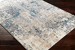Abstract Design Area Rug, Multi, rollover